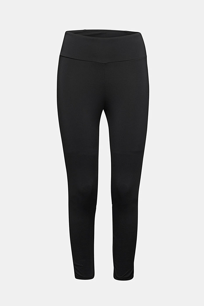 Leggings with reflective tape, E-DRY, BLACK, detail image number 6