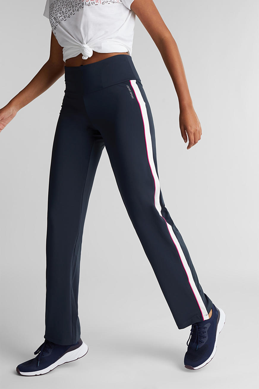 Sporty Trousers with stripes, edry