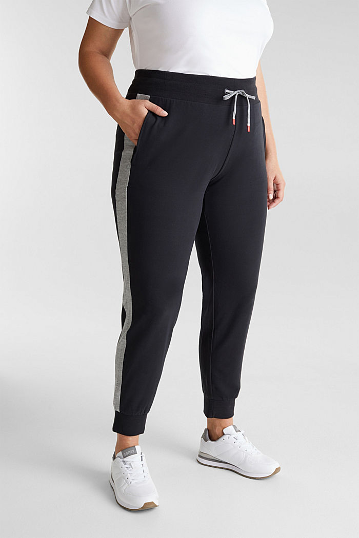CURVY Sweat Pants mit Organic Cotton, BLACK, detail image number 0