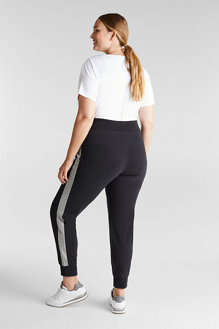 CURVY tracksuit bottoms with organic cotton, BLACK, detail image number 3