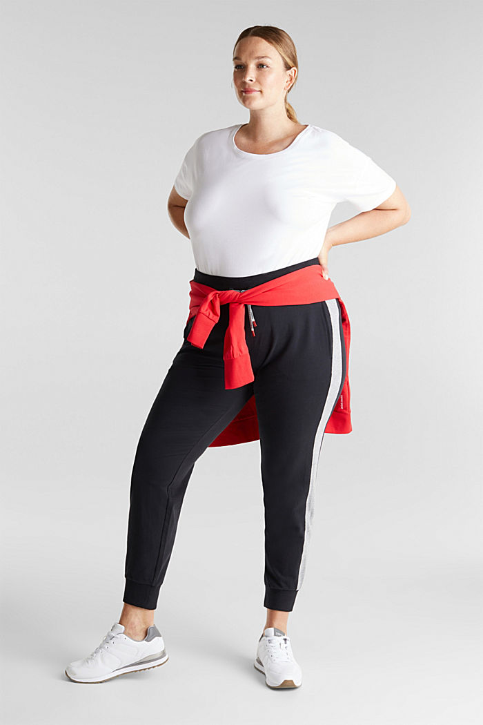 CURVY tracksuit bottoms with organic cotton