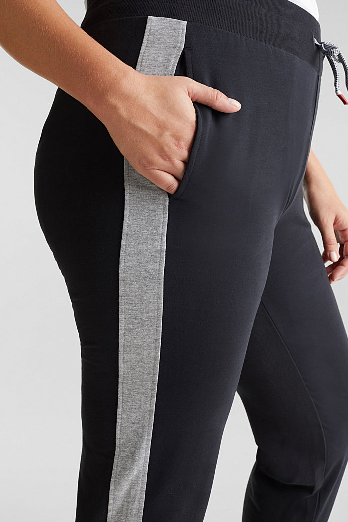 CURVY tracksuit bottoms with organic cotton, BLACK, detail image number 2