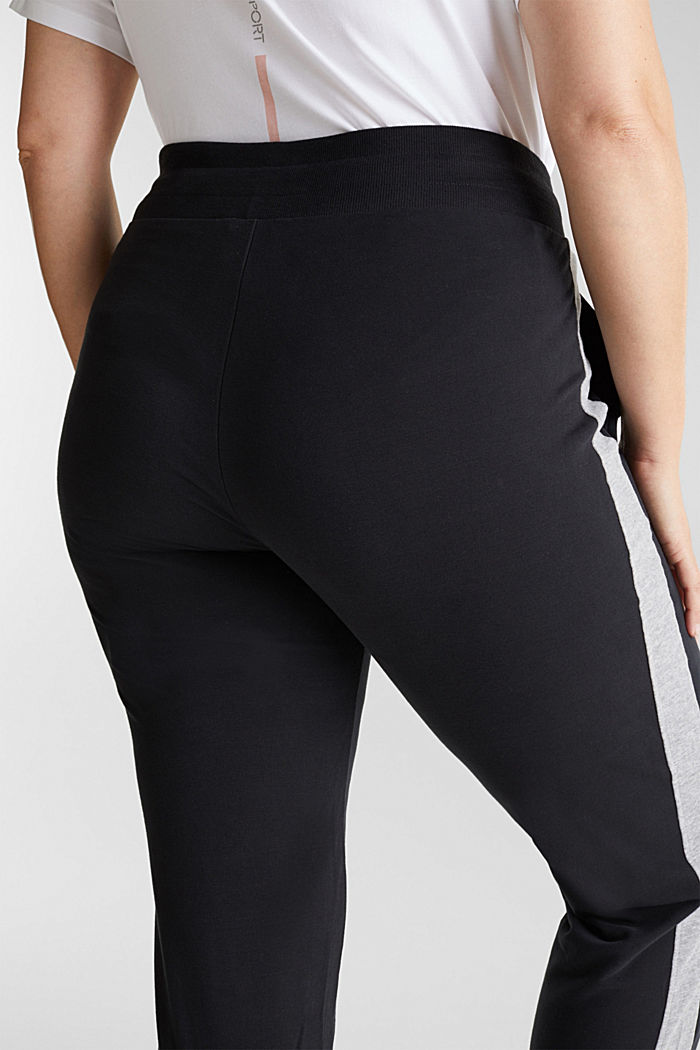 CURVY tracksuit bottoms with organic cotton, BLACK, detail image number 5