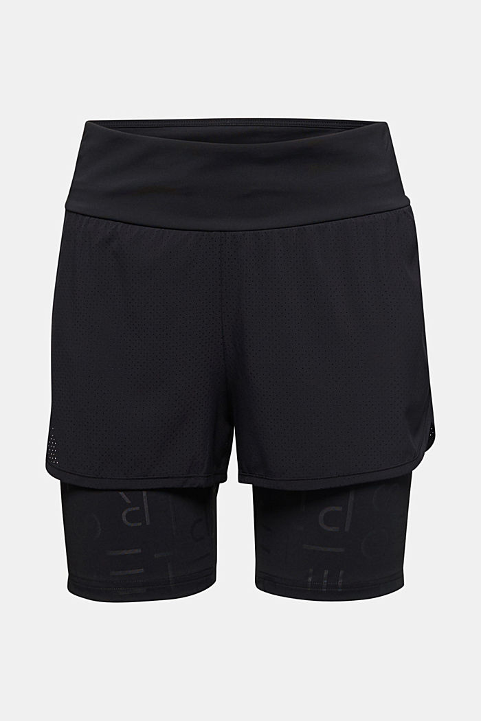 Double-layered edry shorts, BLACK, detail image number 7
