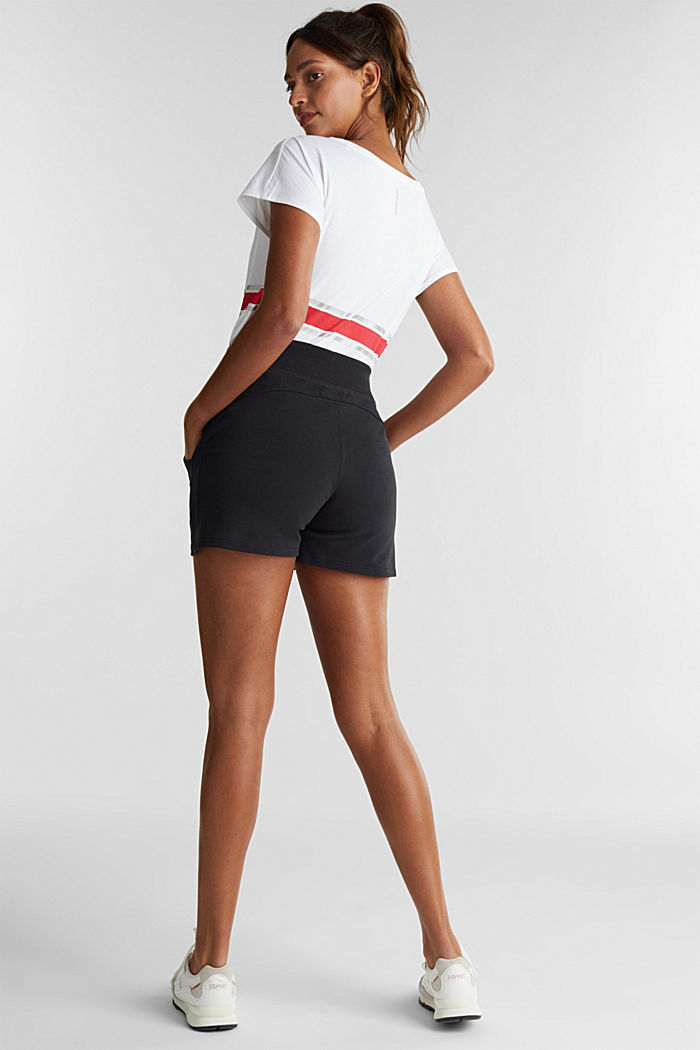 Blended cotton sweat shorts, BLACK, detail image number 2