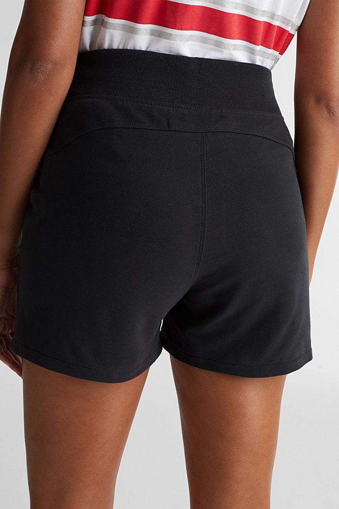 Blended cotton sweat shorts, BLACK, detail image number 4