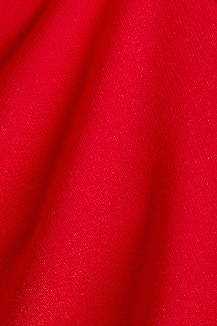 Blended cotton sweat shorts, RED, detail image number 3