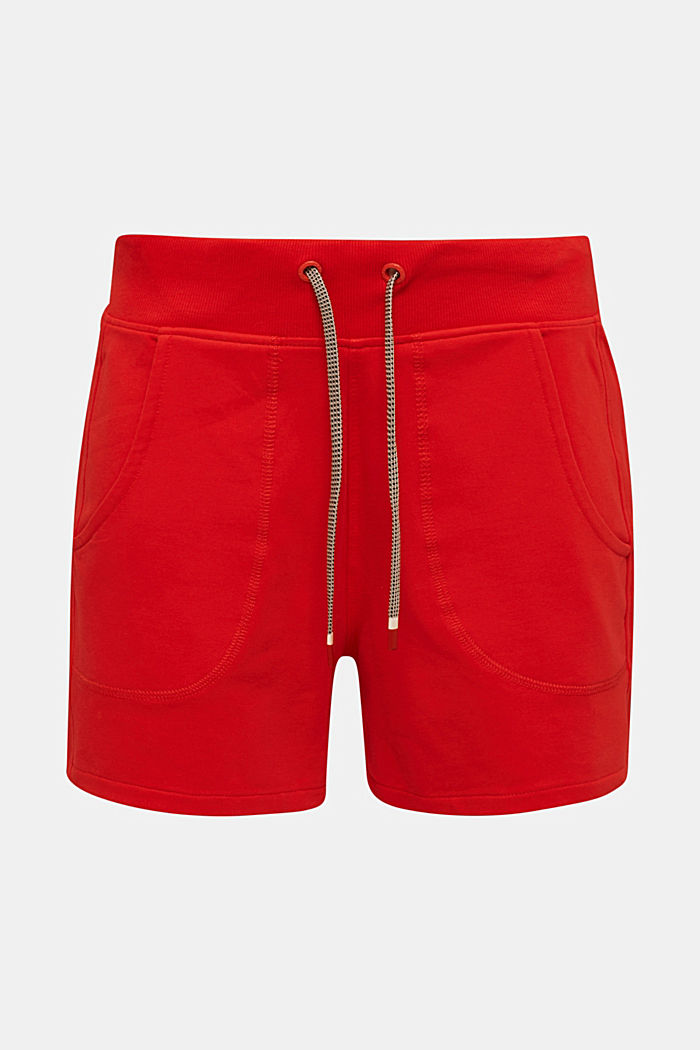 Blended cotton sweat shorts, RED, detail image number 5