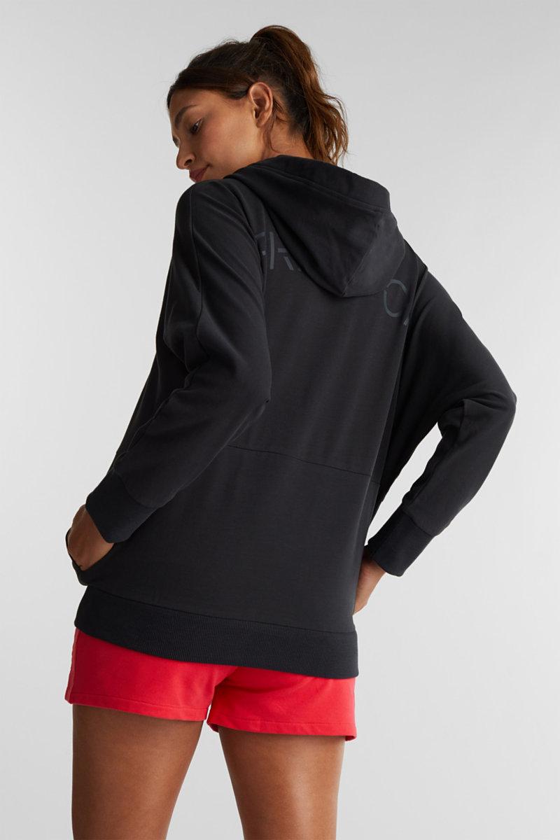 Stretch cotton hoodie