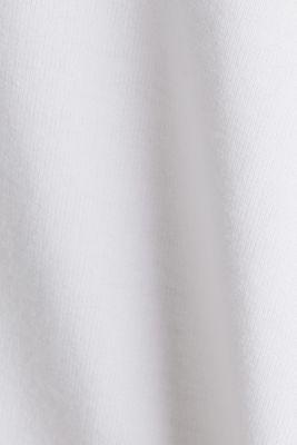 Stretch cotton hoodie, WHITE, detail