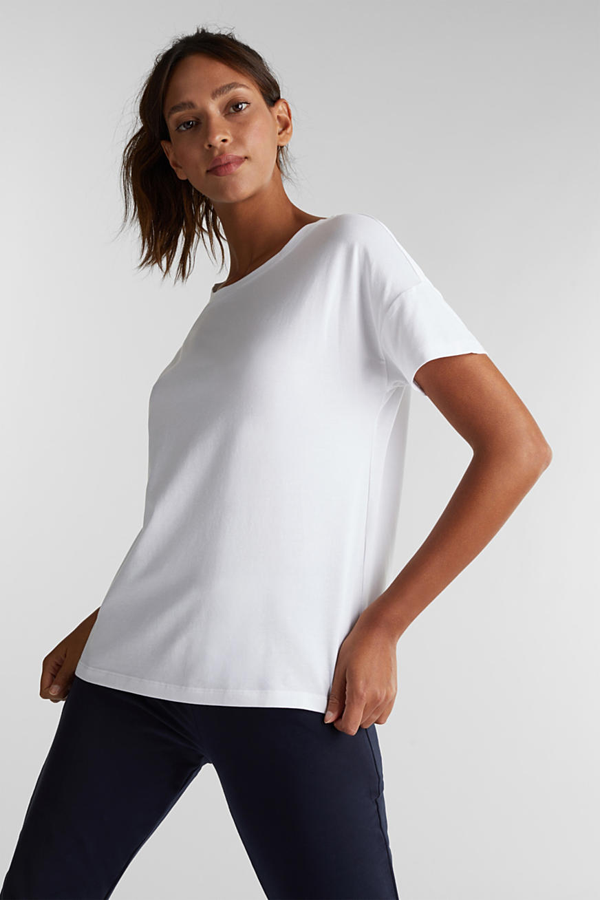 T-shirt met organic cotton en mesh