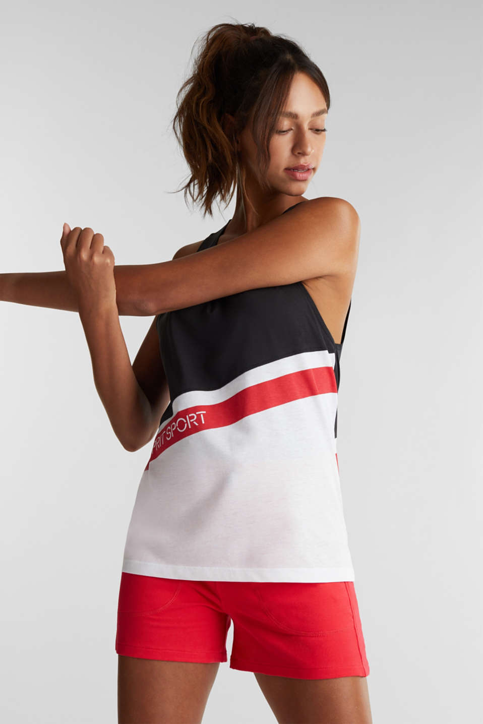Esprit - Jersey top with stripes