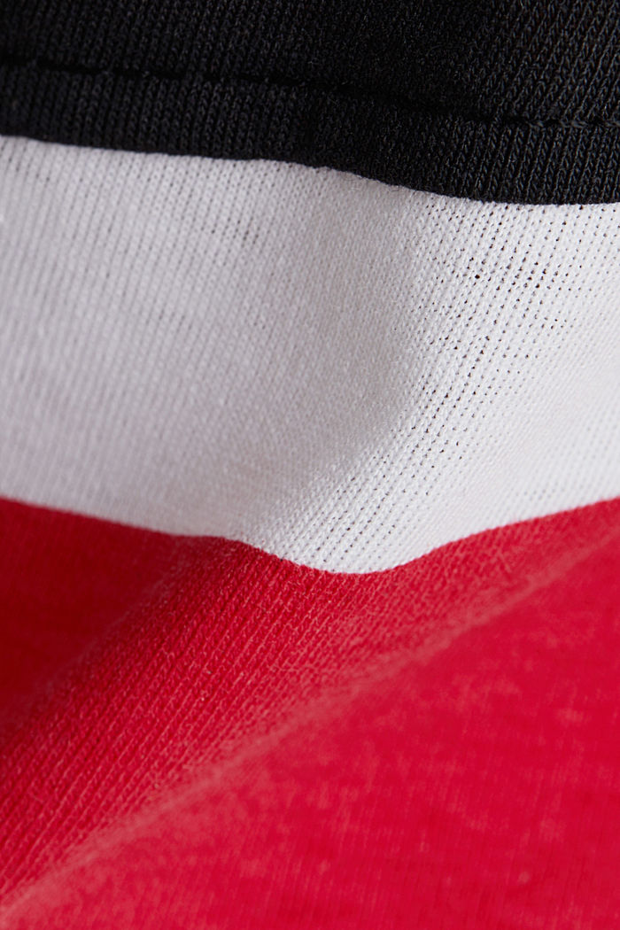 Jersey top with stripes, WHITE, detail image number 4