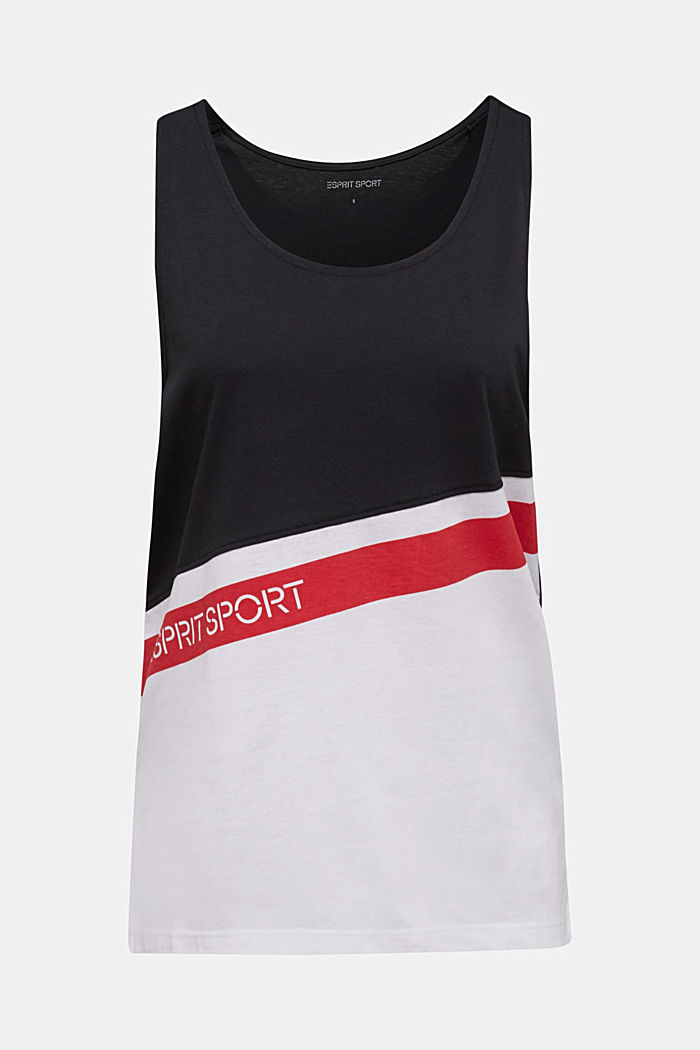 Jersey top with stripes, WHITE, detail image number 5