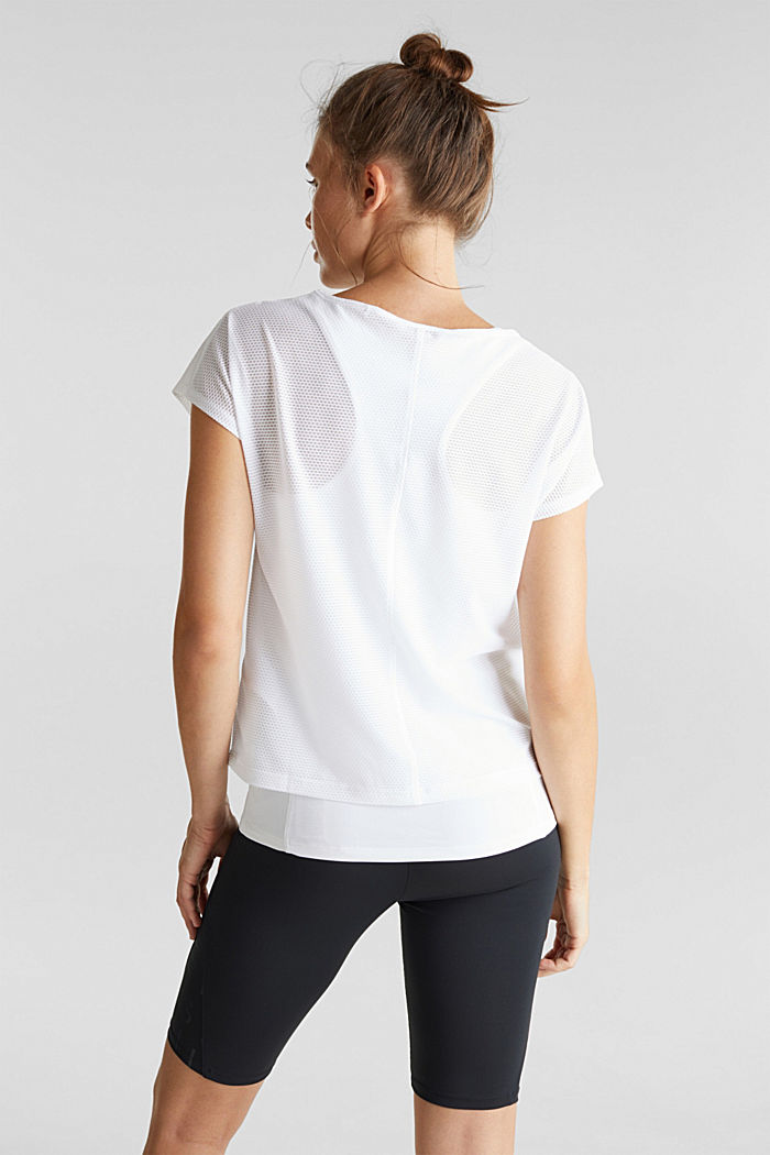 2in1: Membran-Shirt mit Tank-Top, E-Dry, WHITE, detail image number 3