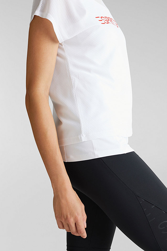 2in1: Membran-Shirt mit Tank-Top, E-Dry, WHITE, detail image number 2