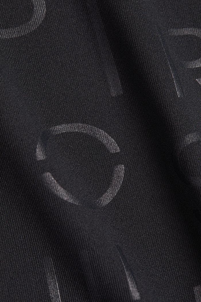 Top s detaily ze síťoviny, E-DRY, BLACK, detail image number 4