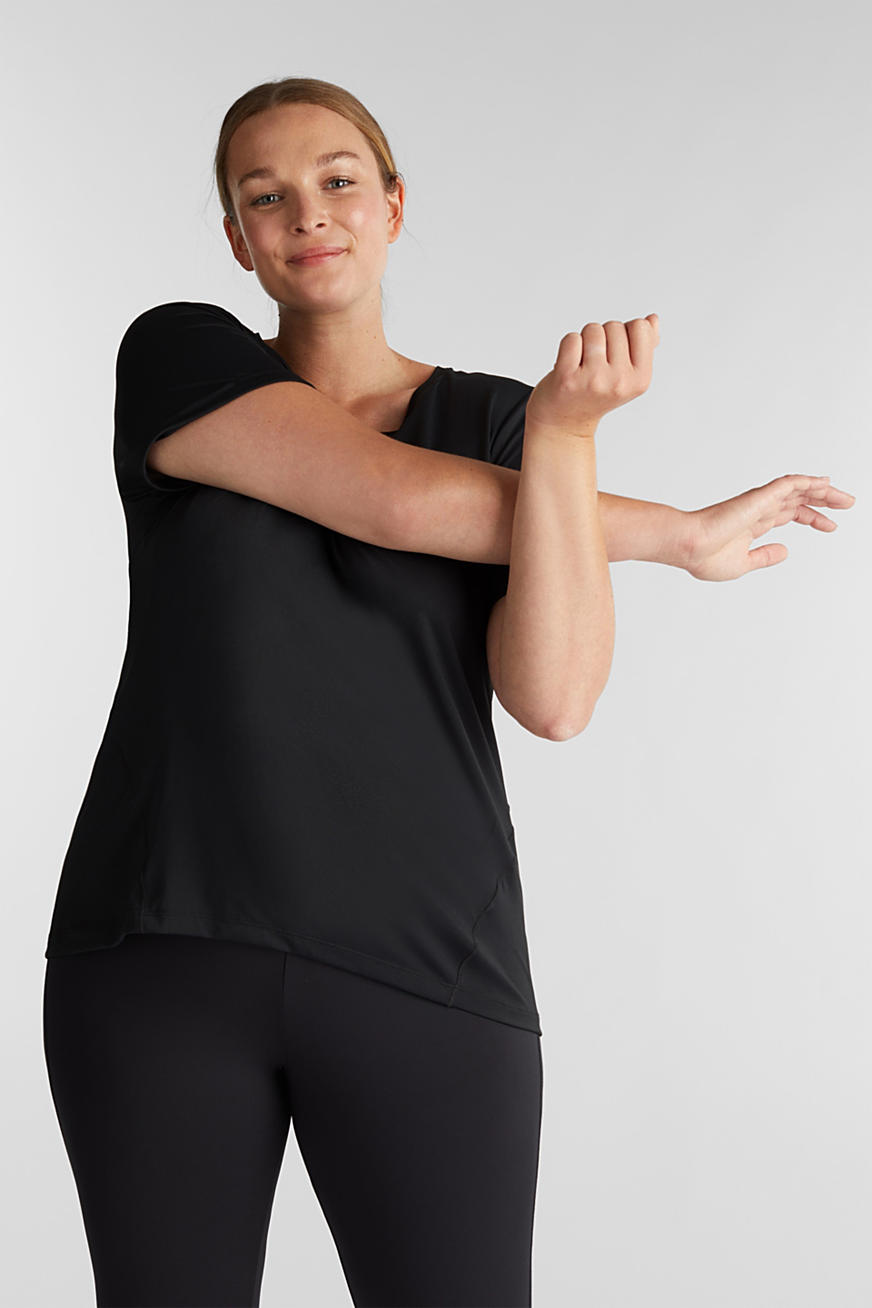 Curvy Active-Shirt, E-DRY