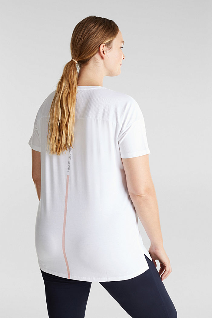 Curvy sports top with organic cotton, WHITE, detail image number 2