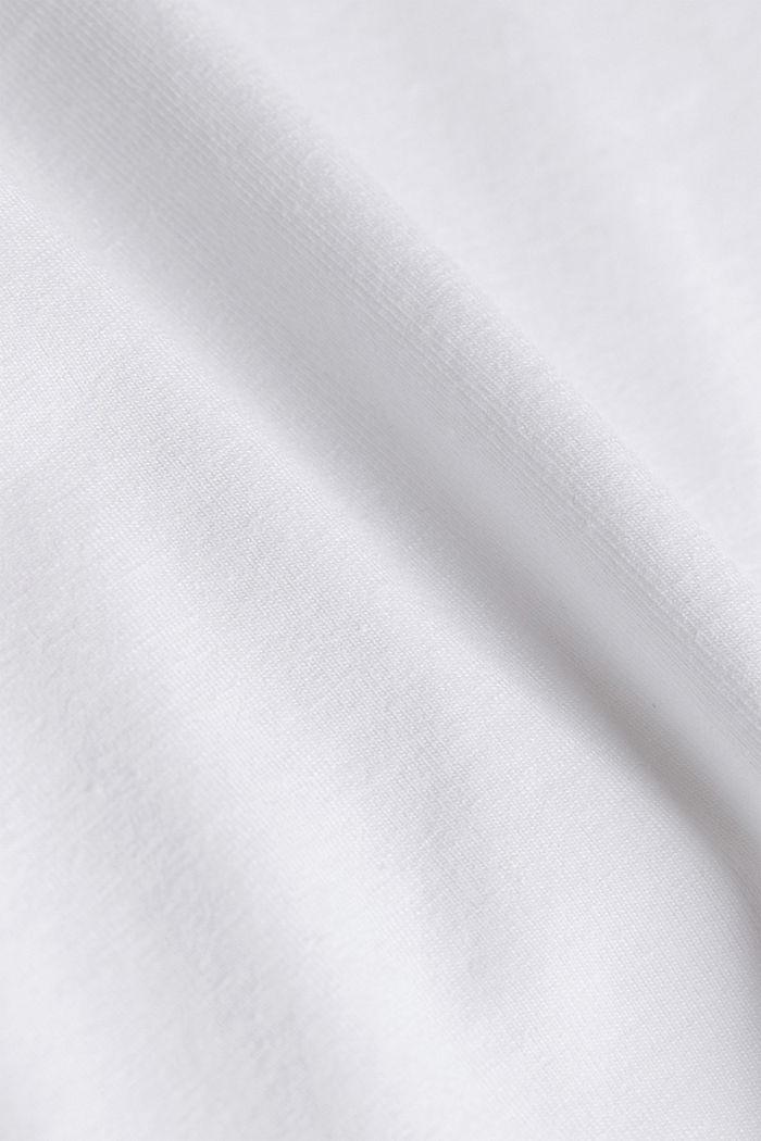 CURVY sportshirt met organic cotton, WHITE, detail image number 3