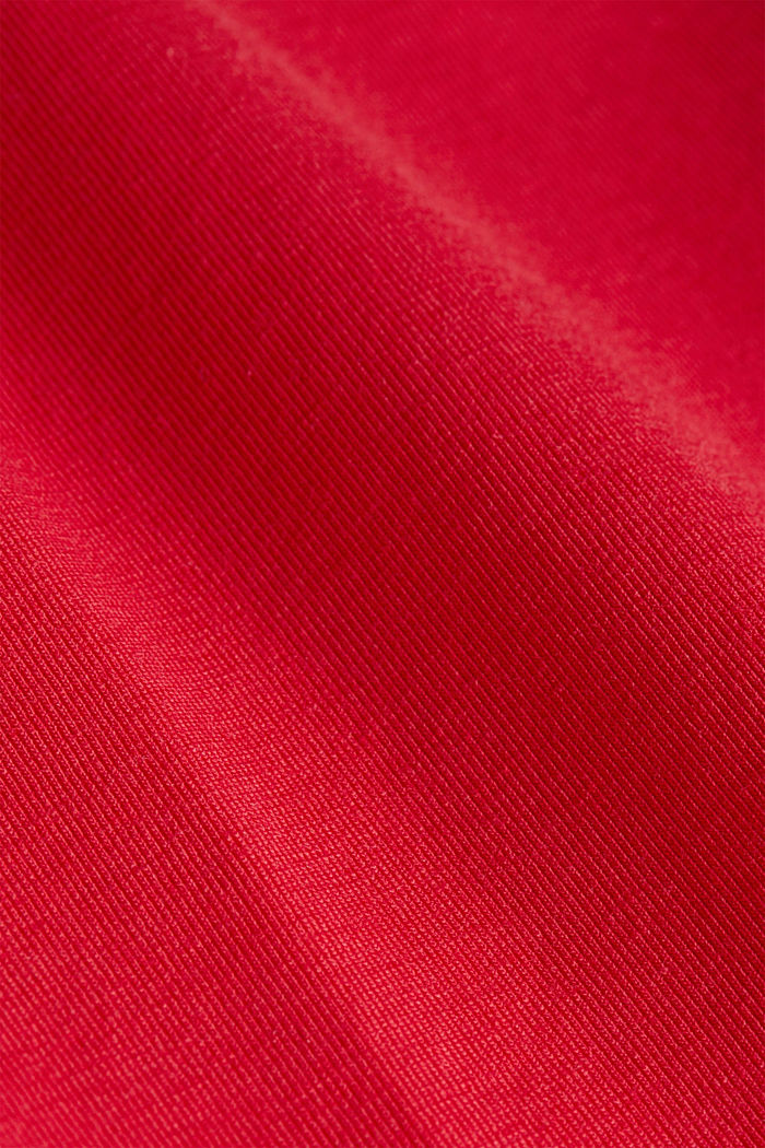 Curvy sports top with organic cotton, RED, detail image number 3