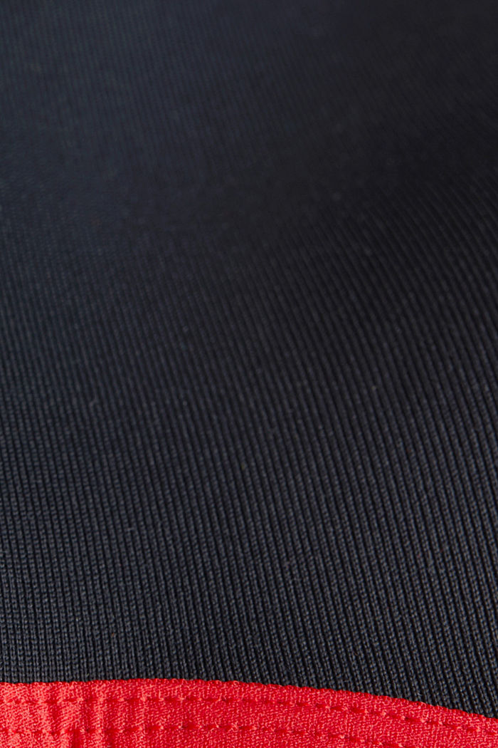 Non-wired, seamless sports bra, BLACK, detail image number 4
