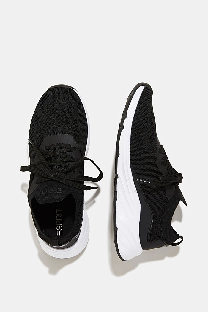 Knitted trainers with a lightweight sole, BLACK, detail image number 1