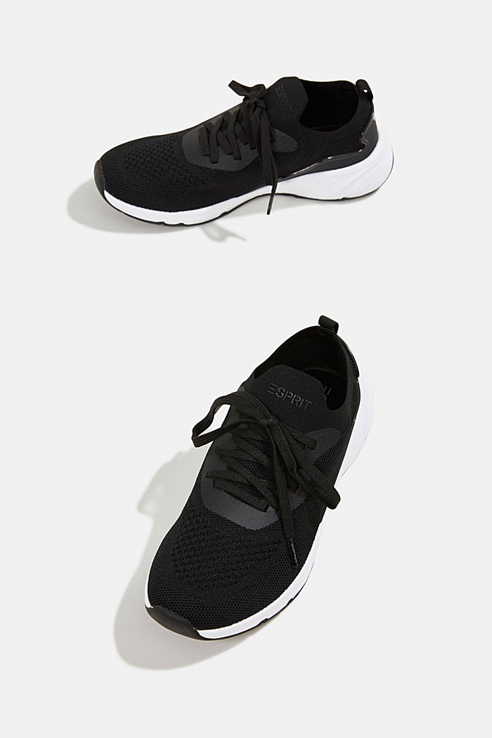 Knitted trainers with a lightweight sole, BLACK, detail image number 6