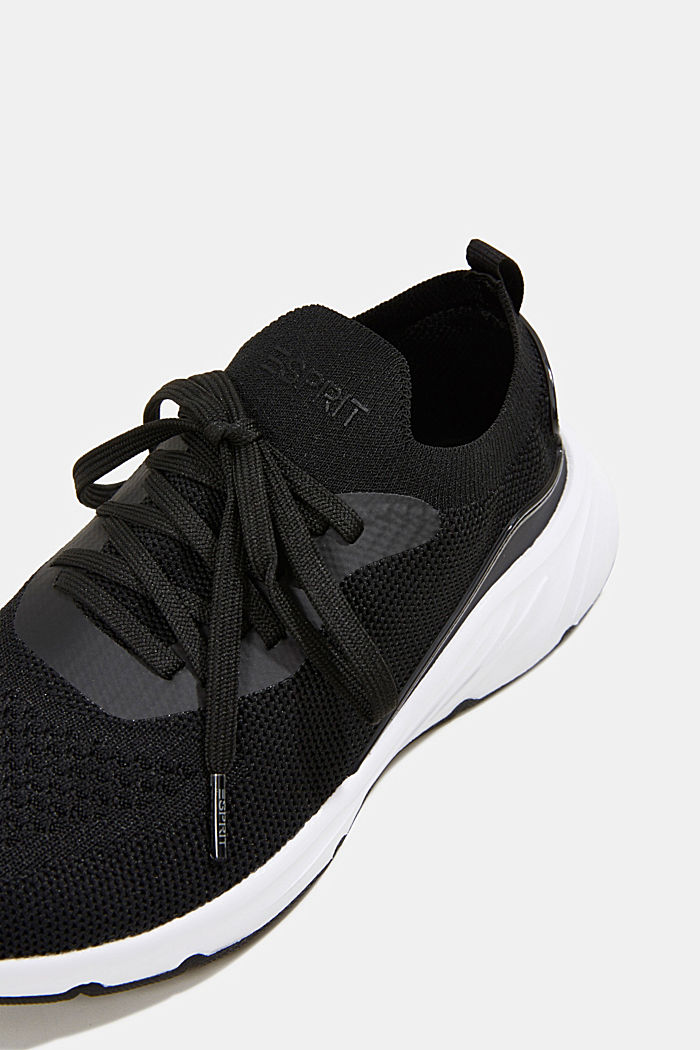 Knitted trainers with a lightweight sole, BLACK, detail image number 4
