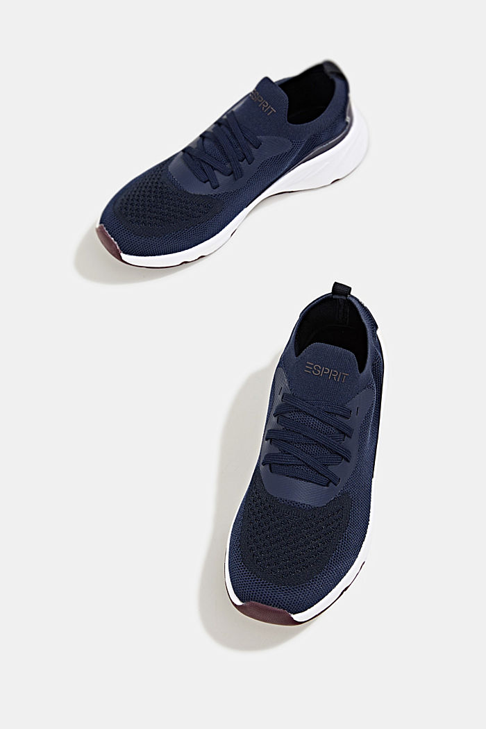 Knitted trainers with a lightweight sole, NAVY, detail image number 1