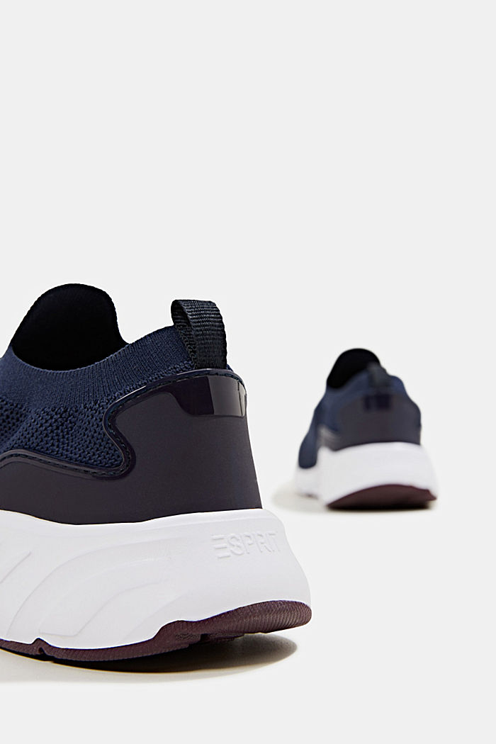 Knitted trainers with a lightweight sole, NAVY, detail image number 5