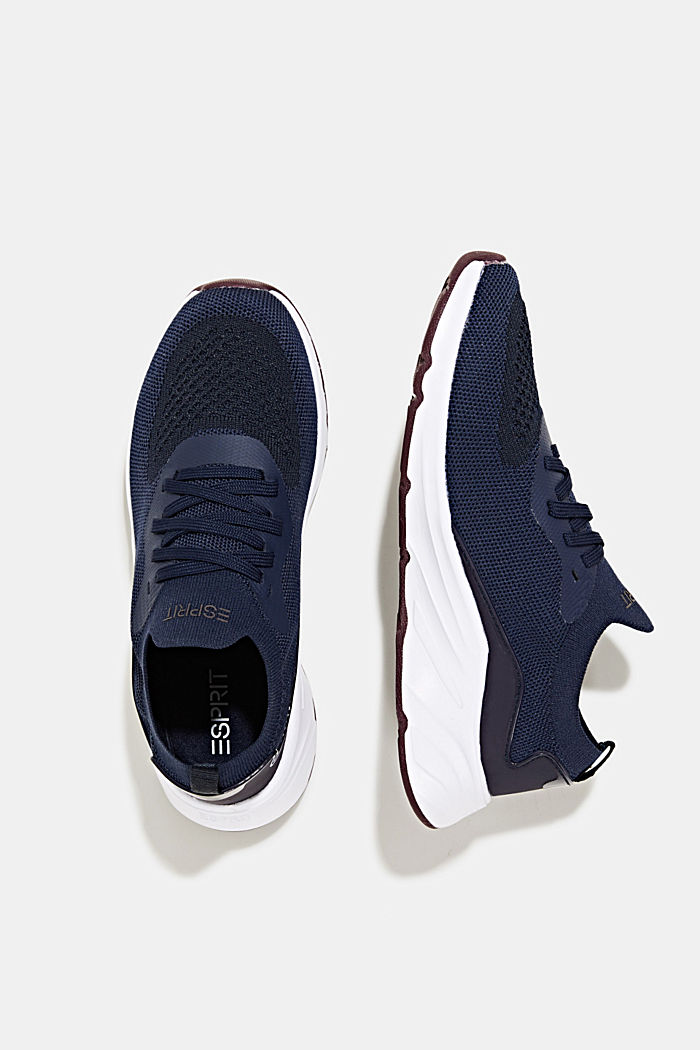Knitted trainers with a lightweight sole, NAVY, detail image number 6