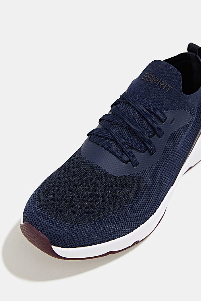 Knitted trainers with a lightweight sole, NAVY, detail image number 4