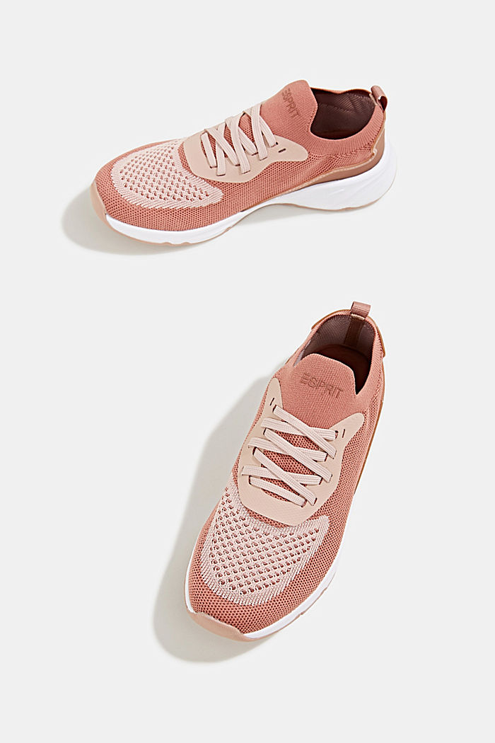Knitted trainers with a lightweight sole, BLUSH, detail image number 1