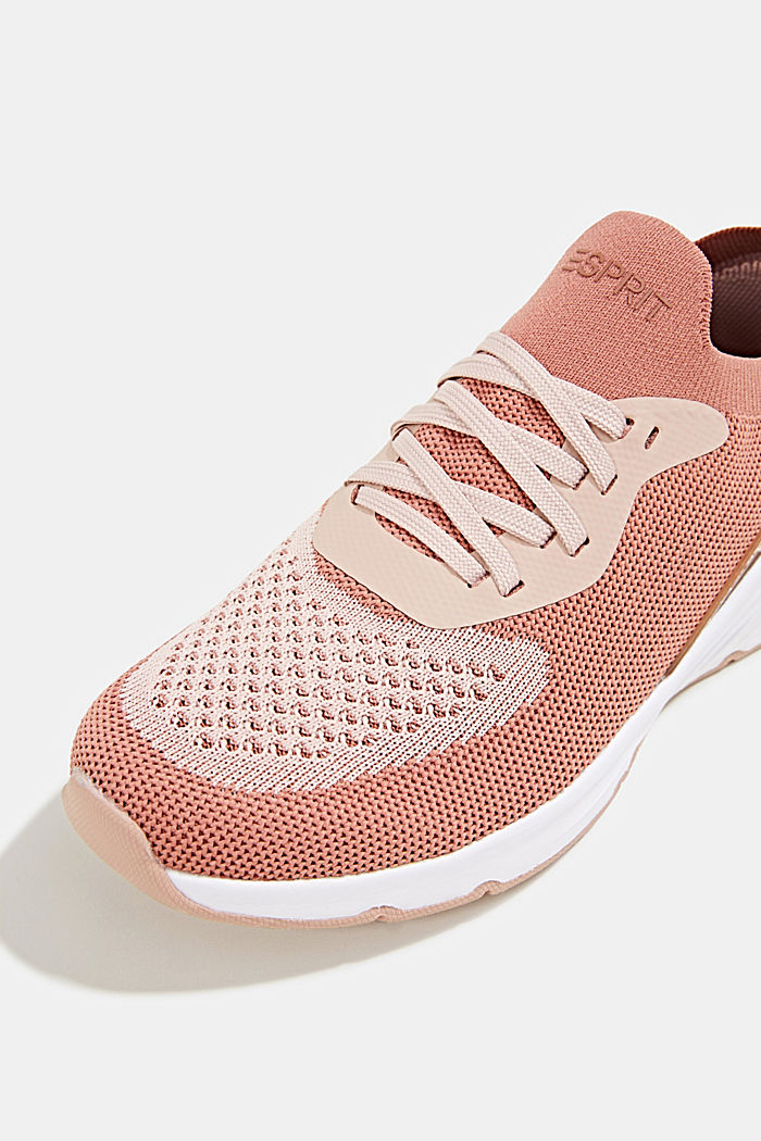 Knitted trainers with a lightweight sole, BLUSH, detail image number 4
