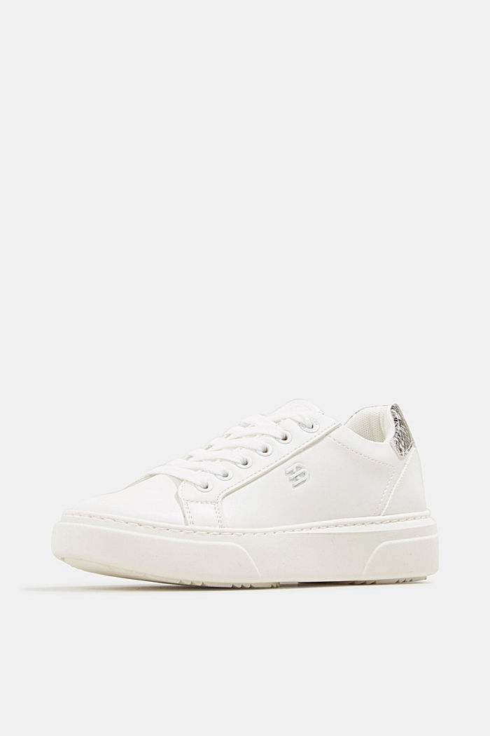 Trainers with a wide sole, WHITE, detail image number 2