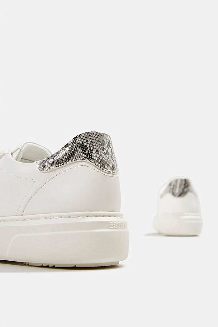 Trainers with a wide sole, WHITE, detail image number 5