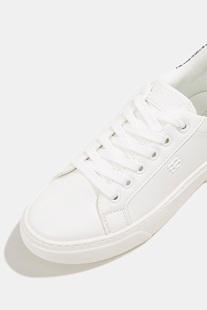 Trainers with a wide sole, WHITE, detail image number 4
