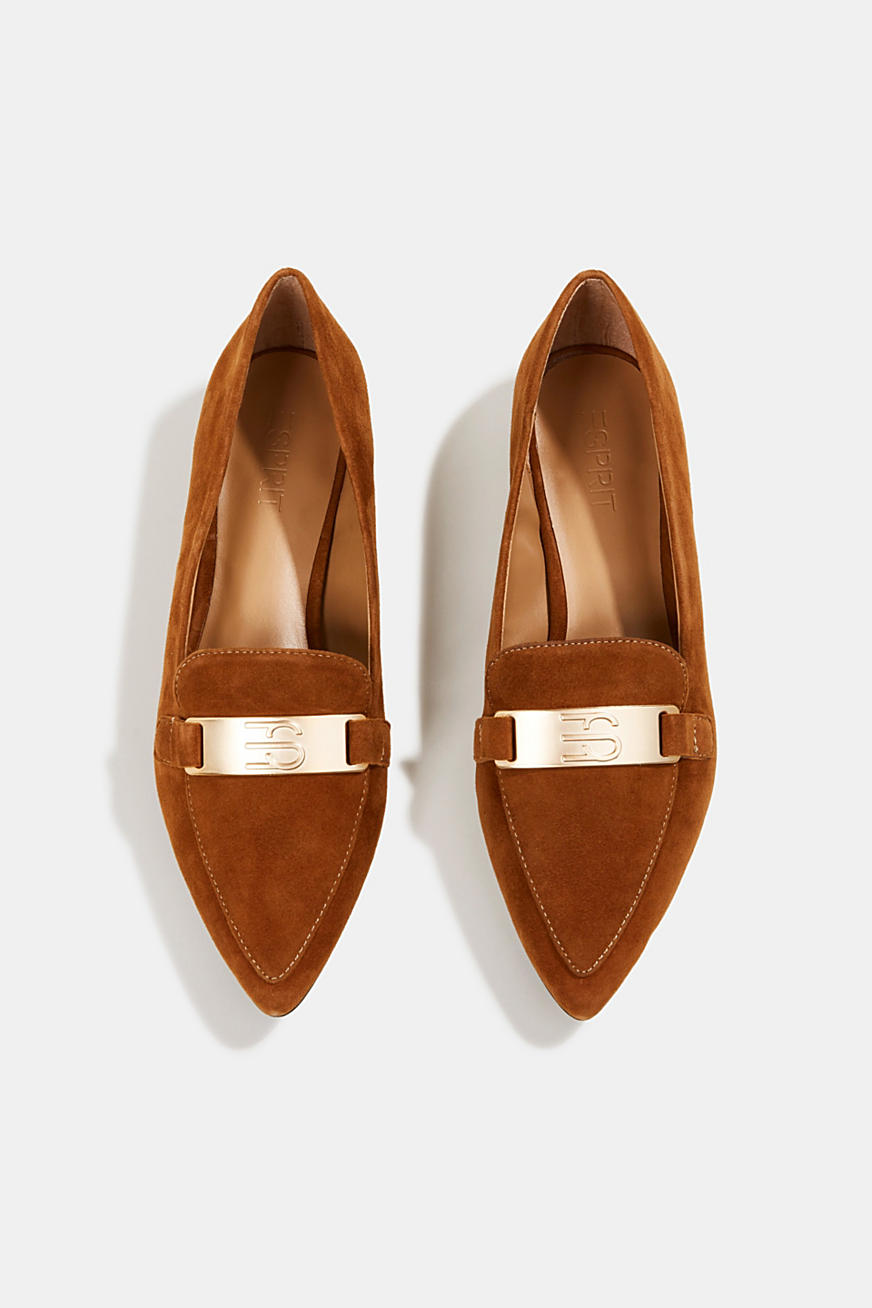 100% leather loafers