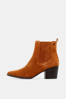 Ankle boots made of 100% genuine leather, TOFFEE, detail