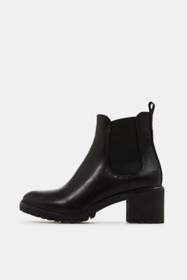 Chelsea ankle boots with a treaded sole, BLACK, detail