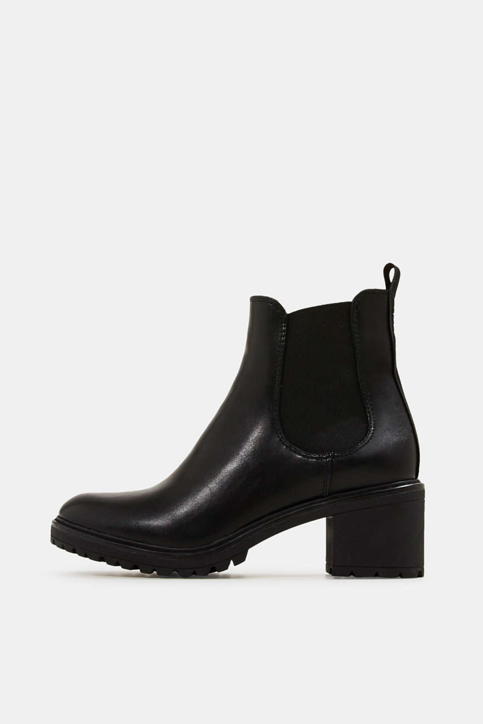 Esprit - Chelsea ankle boots with a treaded sole