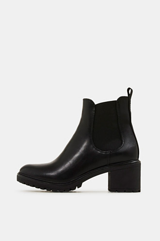 Chelsea ankle boots with a treaded sole