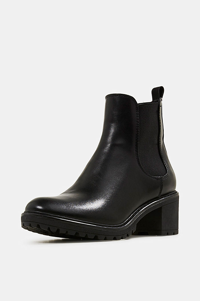 Chelsea ankle boots with a treaded sole, BLACK, detail image number 2