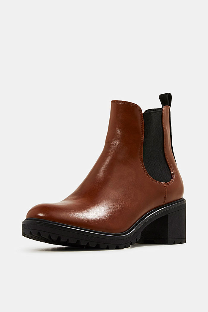 Chelsea ankle boots with a treaded sole, TOFFEE, detail image number 2