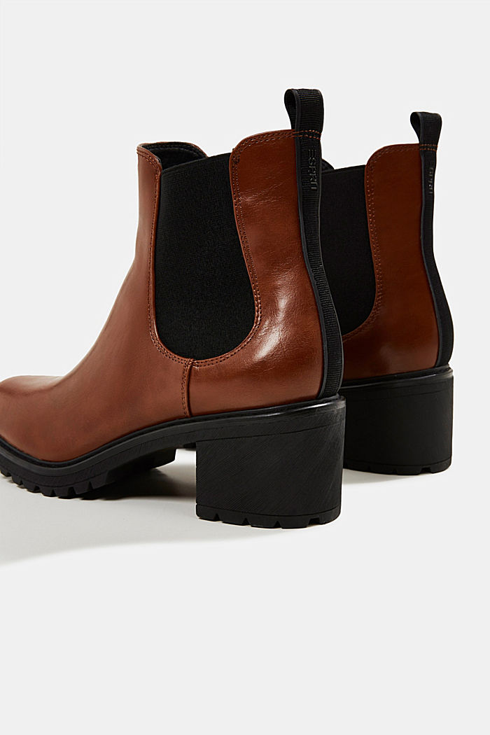 Chelsea ankle boots with a treaded sole, TOFFEE, detail image number 5