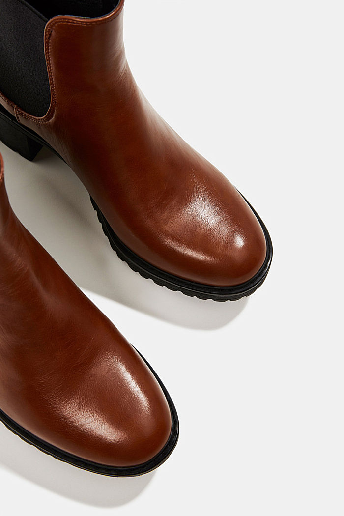 Chelsea ankle boots with a treaded sole, TOFFEE, detail image number 4