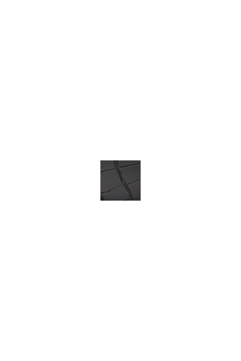 Ballerinaskor i reptilskinnslook, BLACK, swatch