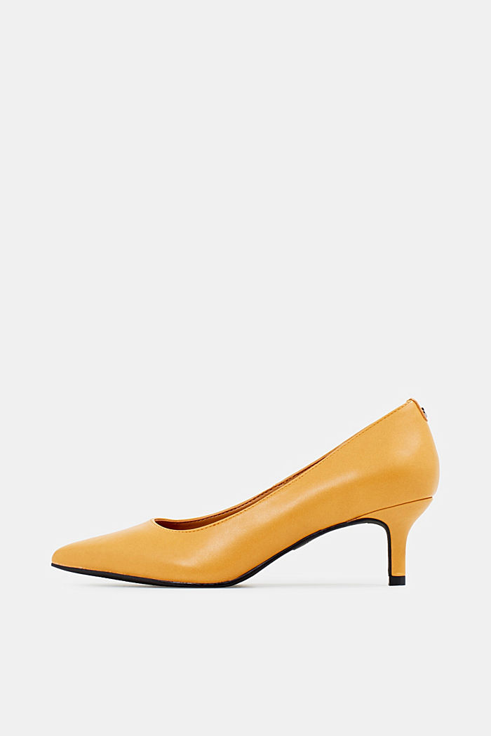 Pumps met hak, AMBER YELLOW, detail image number 0