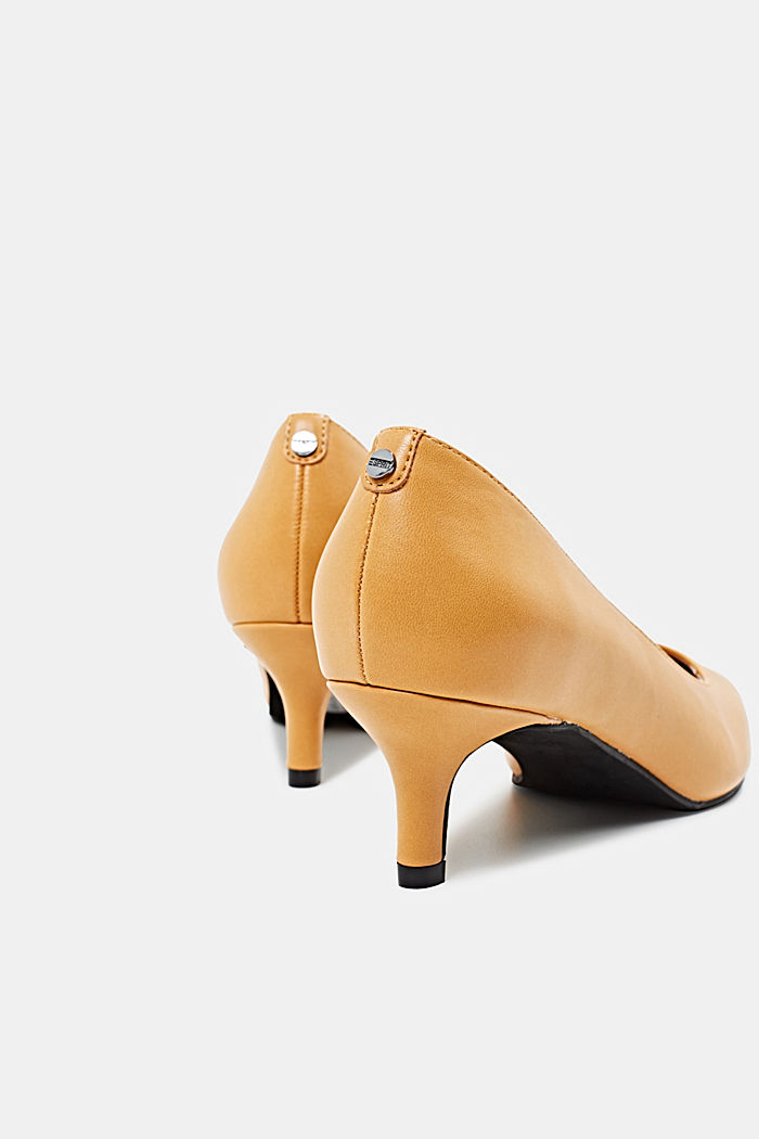 Heeled court shoes, AMBER YELLOW, detail image number 5